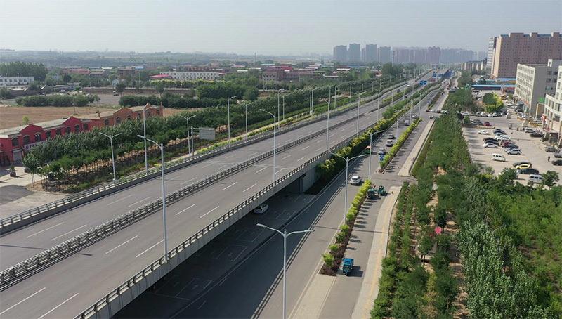 晋中市城区东、南外环路道路快速化改造文华街跨线桥工程